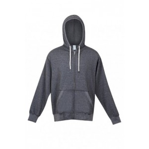 Greater Heather Brushed Fleece Zip Hoodie-Mens