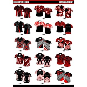 Sublimated Touch/Tag T Shirt Set in- Tri Collar