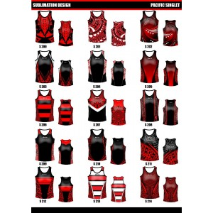 Sublimated Touch/Tag Singlet/Muscle- V Neck