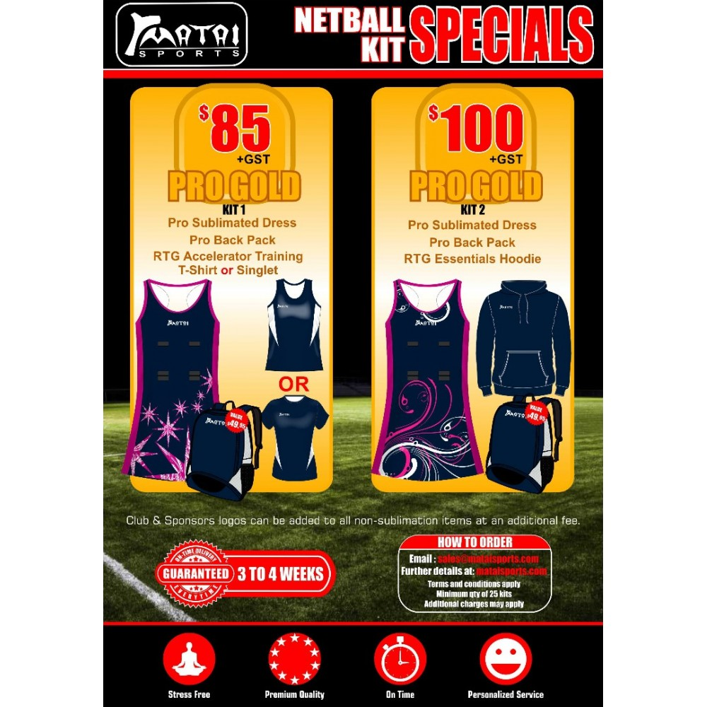 Pro Gold Netball Special Kit