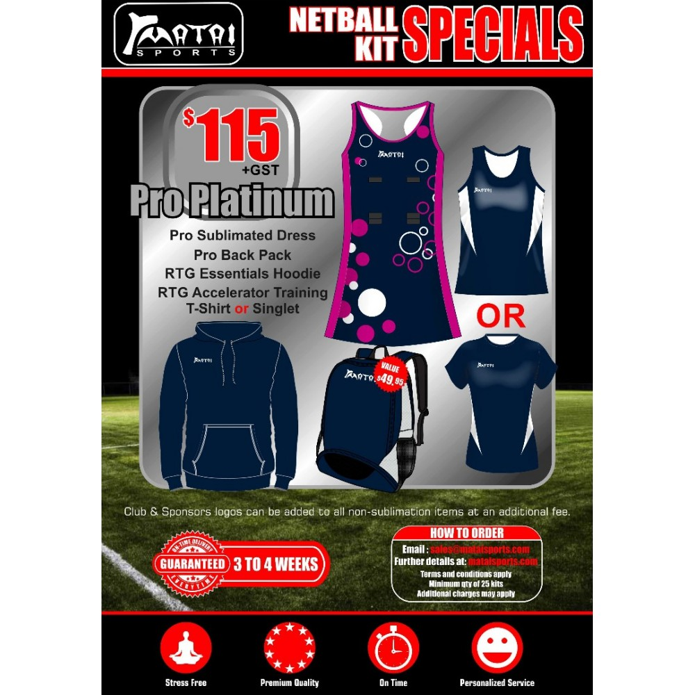 Pro Platinum Netball Special Kit