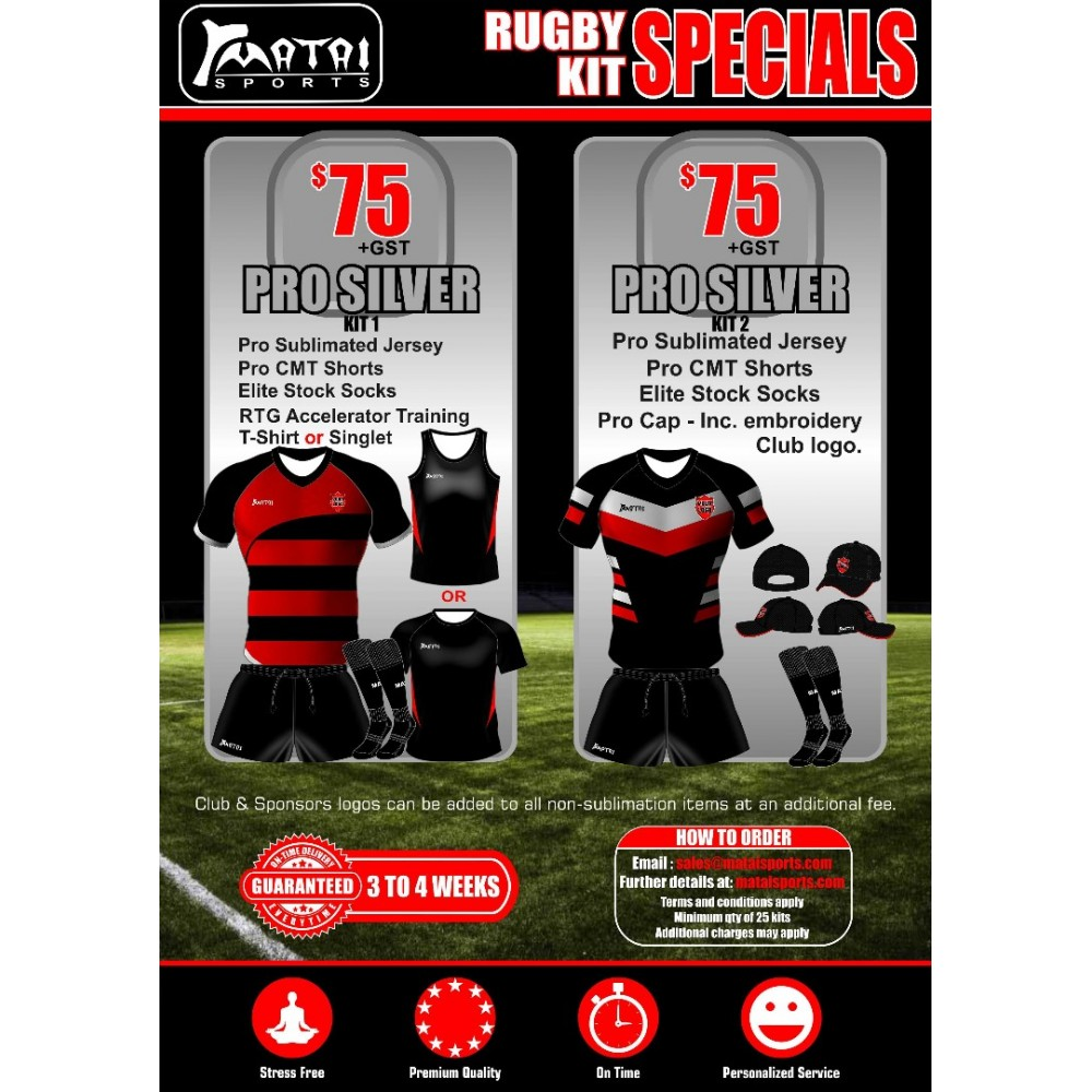 Pro Silver Rugby Special Kit