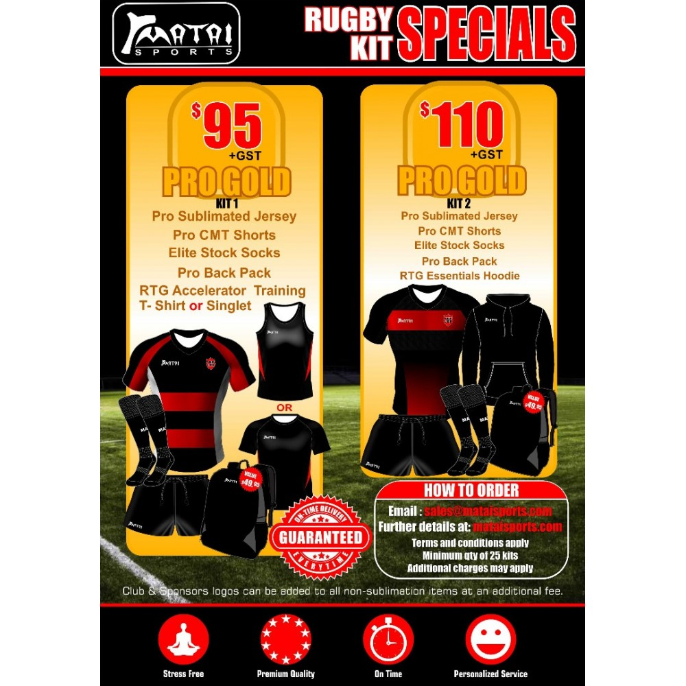 Pro Gold Special Rugby Kit