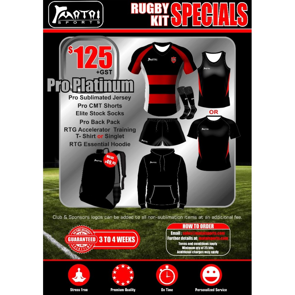 Pro Platinum Rugby Special Kit