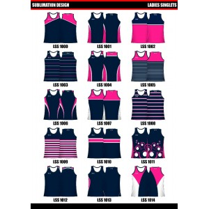 Sublimated Women's Touch/Tag Singlet-Full Back