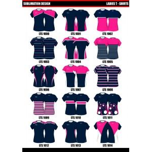 Sublimated Womens Long Sleeve T Shirt- V Neck