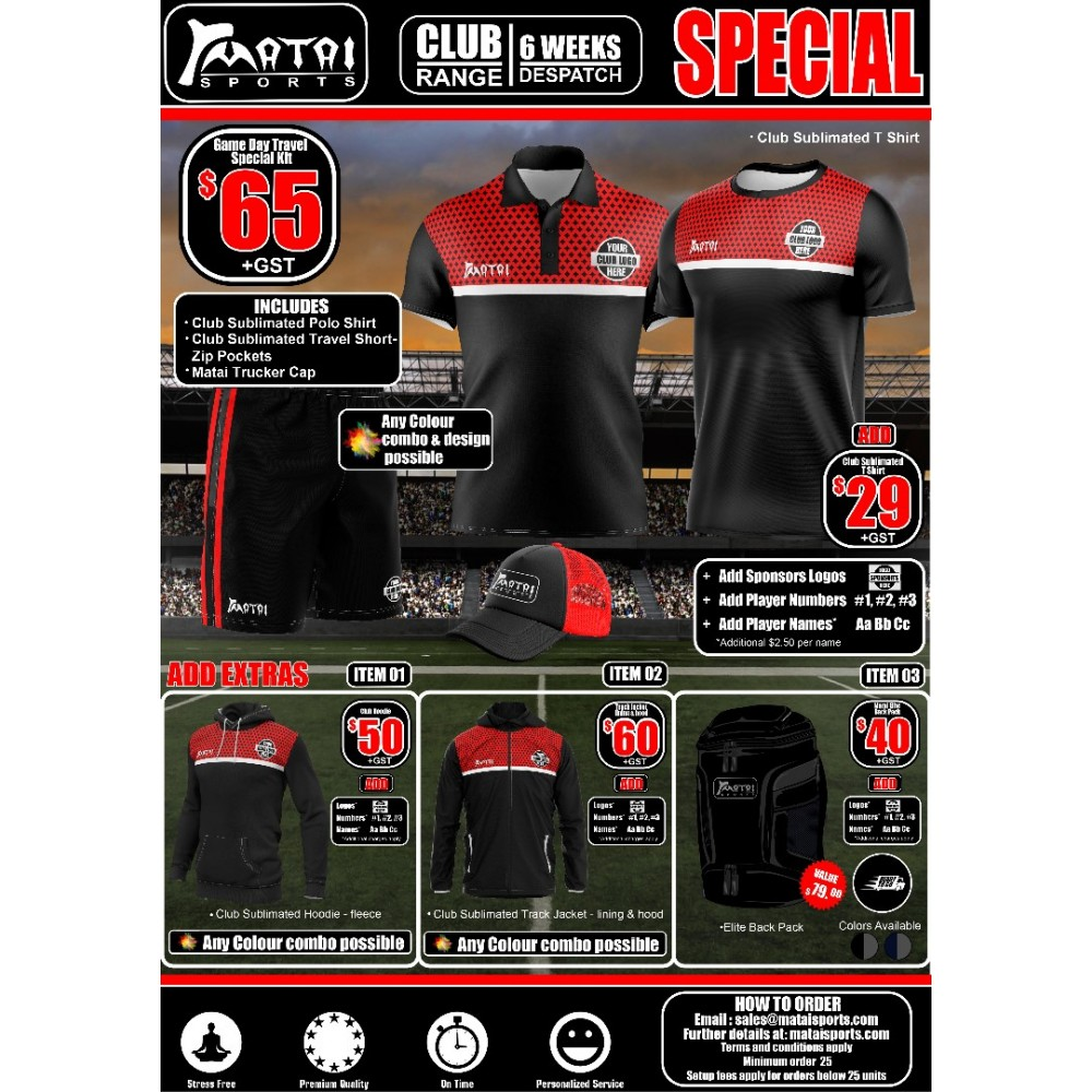 Club Travel-Game Day Special Kit-Mens