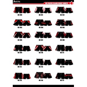 Sublimated Elite Rugby Shorts with Chamois