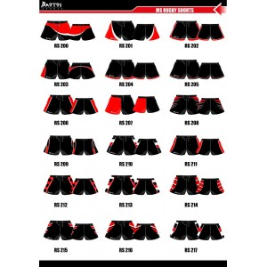Sublimated Junior Rugby Short with Side Panels- Pockets