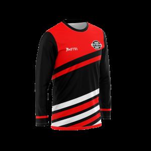 Sublimated Cricket 3/4 Sleeve T Shirt Raglan- Tri Collar