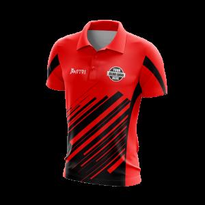 Sublimated Cricket Polo Shirts Raglan Sleeve