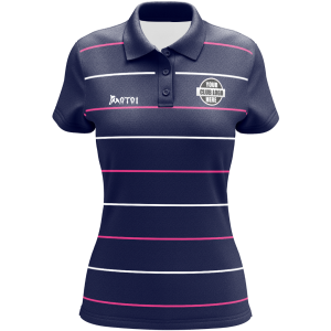 Pro Sublimated Womens Polo Shirts Set in Sleeve