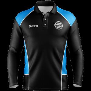 Pro Sublimated Long Sleeve Polo Shirts Raglan Sleeve