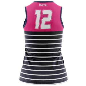 Sublimated Women's Touch/Tag Singlet V Neck -Full Back
