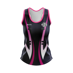 Pro Sublimated Netball Fitted Singlet- Racer Back