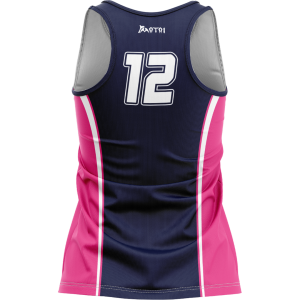 Sublimated Women's Touch/Tag Fitted Long Singlet- Racer Back