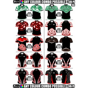 Pro Sublimated Polo Shirts Set in Sleeve- Maori