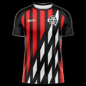 Sublimated Soccer Shirt Raglan - Tri Collar