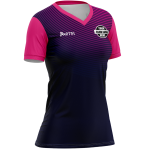Sublimated Womens Touch/Tag T Shirt- V Neck
