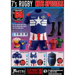 Rugby 7's Kit Specials