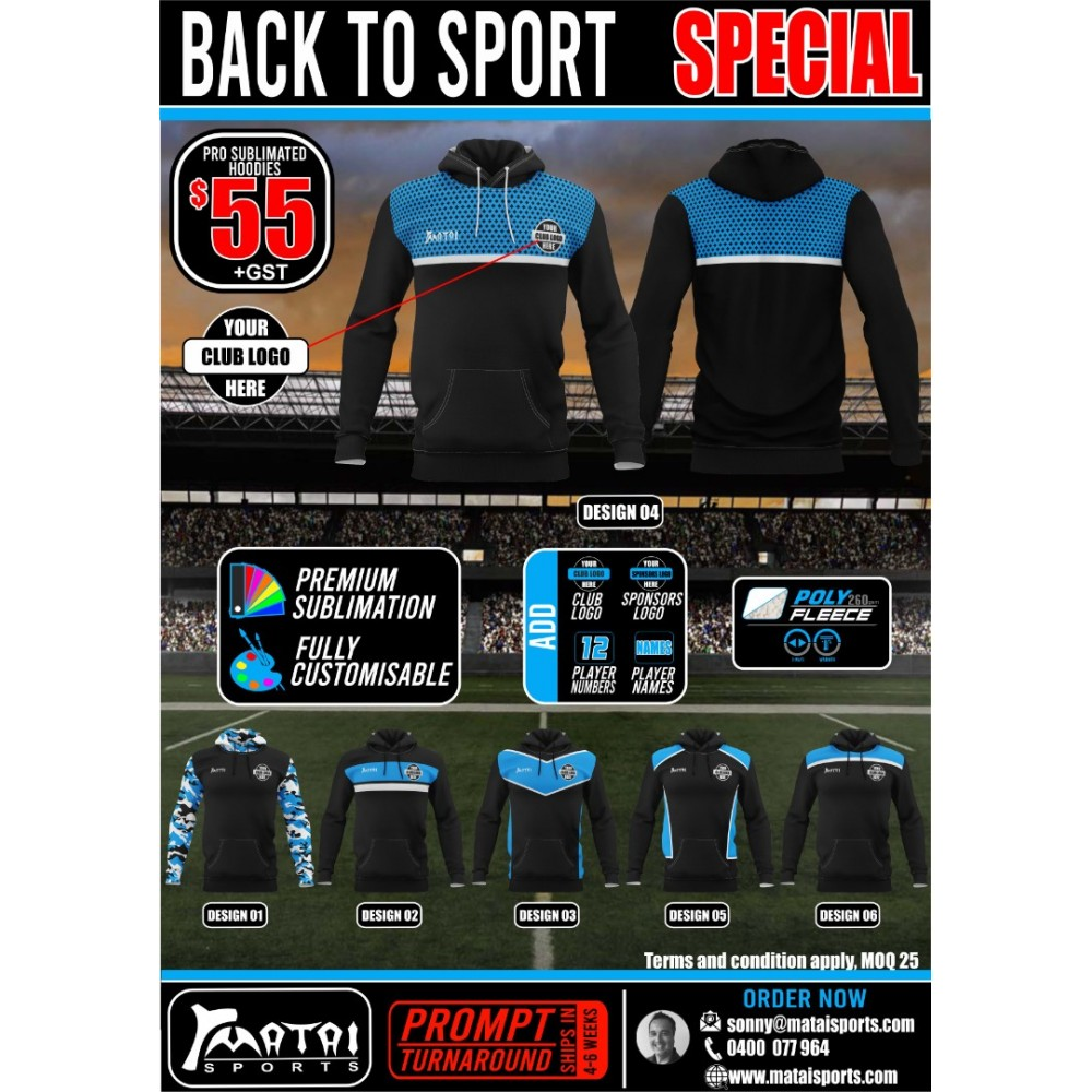 Pro Sublimated Hoodie Specials
